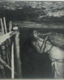 woman mining coal