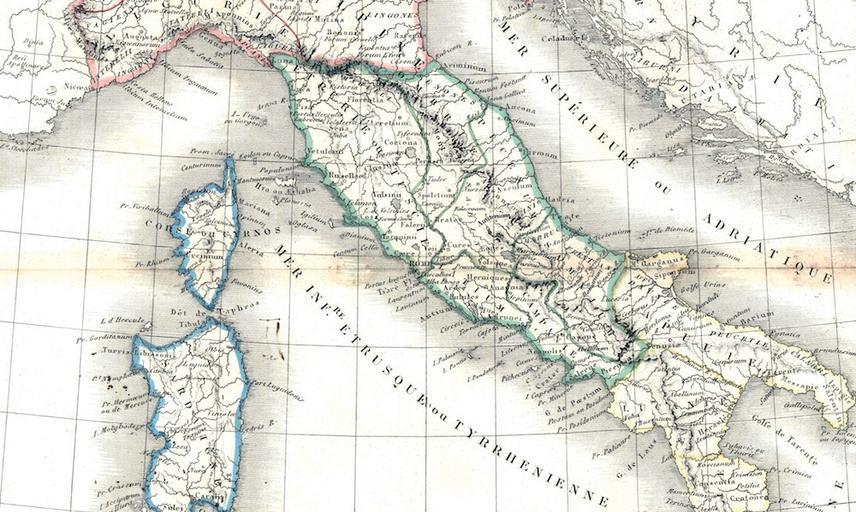 1839 map italy